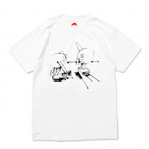 <img class='new_mark_img1' src='//img.shop-pro.jp/img/new/icons5.gif' style='border:none;display:inline;margin:0px;padding:0px;width:auto;' />HOPPS STATIC DAYS T-SHIRT / WHITE (ホップス Tシャツ)