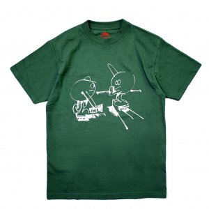 <img class='new_mark_img1' src='//img.shop-pro.jp/img/new/icons5.gif' style='border:none;display:inline;margin:0px;padding:0px;width:auto;' />HOPPS STATIC DAYS T-SHIRT / HUNTER GREEN (ホップス Tシャツ)