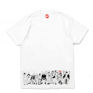 <img class='new_mark_img1' src='//img.shop-pro.jp/img/new/icons5.gif' style='border:none;display:inline;margin:0px;padding:0px;width:auto;' />HOPPS SUBWAY TRAIN T-SHIRT / WHITE (ホップス Tシャツ)