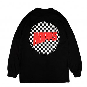 <img class='new_mark_img1' src='//img.shop-pro.jp/img/new/icons5.gif' style='border:none;display:inline;margin:0px;padding:0px;width:auto;' />HOPPS SUN LOGO CHECKERD L/S T-SHIRT / BLACK (ホップス ロングスリーブTシャツ/長袖)
