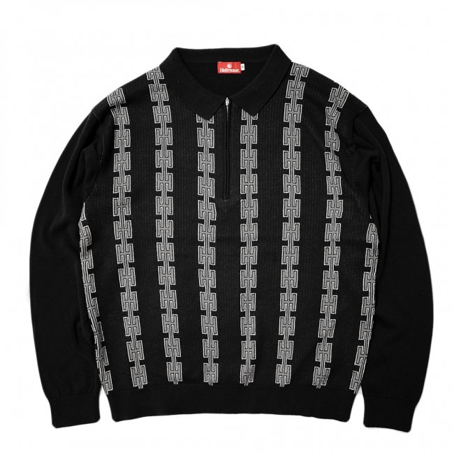 <img class='new_mark_img1' src='//img.shop-pro.jp/img/new/icons5.gif' style='border:none;display:inline;margin:0px;padding:0px;width:auto;' />Hellrazor Chain Half Zip Knit Sweater / Black (ヘルレイザー ニットセーター)