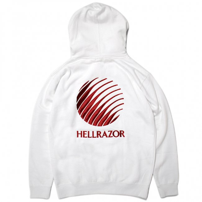 <img class='new_mark_img1' src='//img.shop-pro.jp/img/new/icons5.gif' style='border:none;display:inline;margin:0px;padding:0px;width:auto;' />Hellrazor Logo Embroidered Hoodie / White (ヘルレイザー パーカー/フーディ)