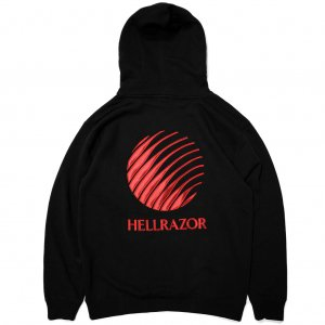 <img class='new_mark_img1' src='//img.shop-pro.jp/img/new/icons5.gif' style='border:none;display:inline;margin:0px;padding:0px;width:auto;' />Hellrazor Logo Embroidered Hoodie / Black (ヘルレイザー パーカー/フーディ)