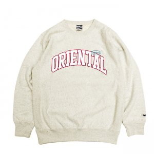 <img class='new_mark_img1' src='//img.shop-pro.jp/img/new/icons5.gif' style='border:none;display:inline;margin:0px;padding:0px;width:auto;' />SAYHELLO ORIENTAL CREW SWEAT / OATMEAL (セイハロー クルーネック/スウェット)