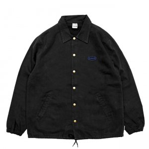 <img class='new_mark_img1' src='//img.shop-pro.jp/img/new/icons5.gif' style='border:none;display:inline;margin:0px;padding:0px;width:auto;' />SAYHELLO CASH LOGO WASHED COTTON COACH JACKET / BLACK (セイハロー コーチジャケット)