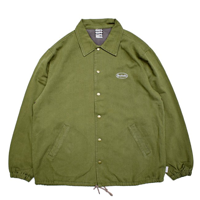 <img class='new_mark_img1' src='//img.shop-pro.jp/img/new/icons5.gif' style='border:none;display:inline;margin:0px;padding:0px;width:auto;' />SAYHELLO CASH LOGO WASHED COTTON COACH JACKET / OLIVE (セイハロー コーチジャケット)