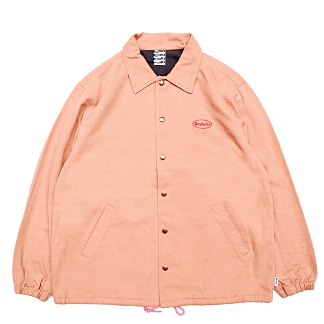 <img class='new_mark_img1' src='//img.shop-pro.jp/img/new/icons5.gif' style='border:none;display:inline;margin:0px;padding:0px;width:auto;' />SAYHELLO CASH LOGO WASHED COTTON COACH JACKET / PEACH (セイハロー コーチジャケット)