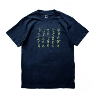 <img class='new_mark_img1' src='//img.shop-pro.jp/img/new/icons5.gif' style='border:none;display:inline;margin:0px;padding:0px;width:auto;' />WKND FACES TEE / NAVY (ウィークエンド Tシャツ)