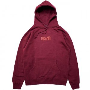 <img class='new_mark_img1' src='https://img.shop-pro.jp/img/new/icons5.gif' style='border:none;display:inline;margin:0px;padding:0px;width:auto;' />GRAND TONAL EMBROIDERED HOODIE / BURGUNDY (グランドコレクション スウェット/パーカー)