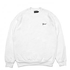 <img class='new_mark_img1' src='//img.shop-pro.jp/img/new/icons5.gif' style='border:none;display:inline;margin:0px;padding:0px;width:auto;' />GRAND COLLECTION GRAND SCRIPT PREMIUM CREWNECK SWEAT / WHITE (グランドコレクション スウェット/クルーネック)
