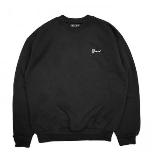 <img class='new_mark_img1' src='//img.shop-pro.jp/img/new/icons5.gif' style='border:none;display:inline;margin:0px;padding:0px;width:auto;' />GRAND COLLECTION GRAND SCRIPT PREMIUM CREWNECK SWEAT / BLACK (グランドコレクション スウェット/クルーネック)
