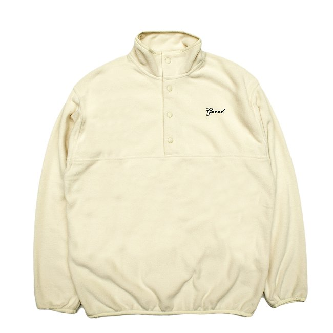 <img class='new_mark_img1' src='//img.shop-pro.jp/img/new/icons5.gif' style='border:none;display:inline;margin:0px;padding:0px;width:auto;' />GRAND COLLECTION MICRO FLEECE PULLOVER JACKET / CREAM (グランドコレクション フリースジャケット)