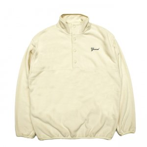 <img class='new_mark_img1' src='https://img.shop-pro.jp/img/new/icons5.gif' style='border:none;display:inline;margin:0px;padding:0px;width:auto;' />GRAND COLLECTION MICRO FLEECE PULLOVER JACKET / CREAM (グランドコレクション フリースジャケット)