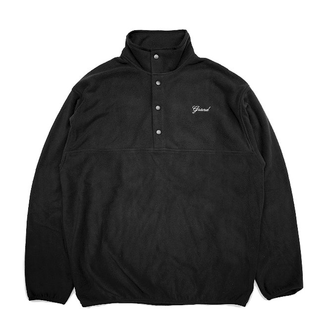 <img class='new_mark_img1' src='https://img.shop-pro.jp/img/new/icons5.gif' style='border:none;display:inline;margin:0px;padding:0px;width:auto;' />GRAND COLLECTION MICRO FLEECE PULLOVER JACKET / BLACK (グランドコレクション フリースジャケット)