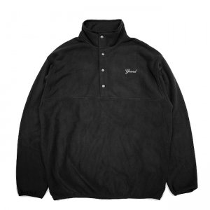 <img class='new_mark_img1' src='//img.shop-pro.jp/img/new/icons5.gif' style='border:none;display:inline;margin:0px;padding:0px;width:auto;' />GRAND COLLECTION MICRO FLEECE PULLOVER JACKET / BLACK (グランドコレクション フリースジャケット)