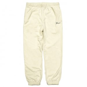 <img class='new_mark_img1' src='//img.shop-pro.jp/img/new/icons5.gif' style='border:none;display:inline;margin:0px;padding:0px;width:auto;' />GRAND COLLECTION MICRO FLEECE PANT / CREAM (グランドコレクション フリースパンツ)