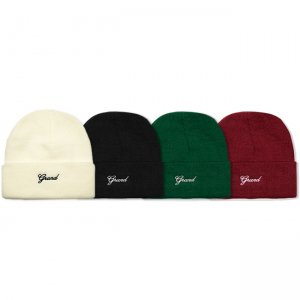 <img class='new_mark_img1' src='https://img.shop-pro.jp/img/new/icons5.gif' style='border:none;display:inline;margin:0px;padding:0px;width:auto;' />GRAND COLLECTION SCRIPT BEANIE (グランドコレクション ビーニーキャップ)