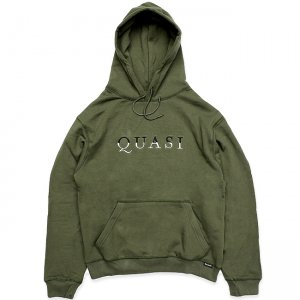 <img class='new_mark_img1' src='//img.shop-pro.jp/img/new/icons5.gif' style='border:none;display:inline;margin:0px;padding:0px;width:auto;' />QUASI WORDMARK HOODIE / DARK OLIVE (クアジ パーカー フーディー)