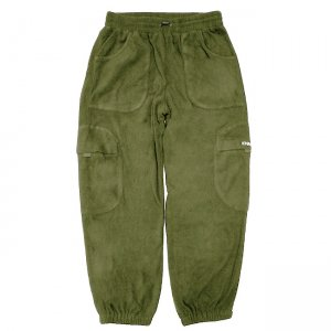 <img class='new_mark_img1' src='https://img.shop-pro.jp/img/new/icons5.gif' style='border:none;display:inline;margin:0px;padding:0px;width:auto;' />DIME FLEECE ROUND CARGO PANTS / OLIVE (ダイム カーゴパンツ / フリースパンツ)