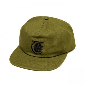 <img class='new_mark_img1' src='//img.shop-pro.jp/img/new/icons5.gif' style='border:none;display:inline;margin:0px;padding:0px;width:auto;' />THEORIES LANTERN CANVAS STRAPBACK CAP / MILITARY GREEN (セオリーズ  スナップバックキャップ/5パネルキャップ)