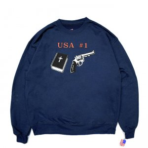 <img class='new_mark_img1' src='//img.shop-pro.jp/img/new/icons5.gif' style='border:none;display:inline;margin:0px;padding:0px;width:auto;' />DEAR, USA #1 CREWNECK SWEAT / NAVY (ディアー/ クルーネックスウェット)