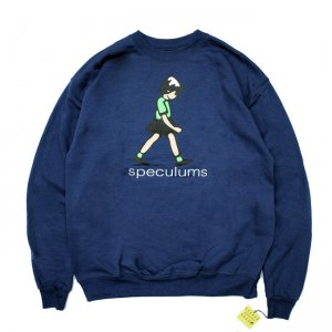 <img class='new_mark_img1' src='//img.shop-pro.jp/img/new/icons5.gif' style='border:none;display:inline;margin:0px;padding:0px;width:auto;' />DEAR, SPECULUMS CREWNECK SWEAT / NAVY (ディアー/ クルーネックスウェット)