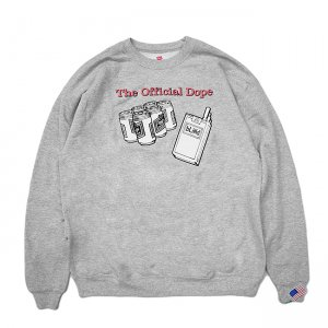 <img class='new_mark_img1' src='//img.shop-pro.jp/img/new/icons5.gif' style='border:none;display:inline;margin:0px;padding:0px;width:auto;' />DEAR, OFFICIAL DOPE CREWNECK SWEAT / HEATHER GREY (ディアー/ クルーネックスウェット)