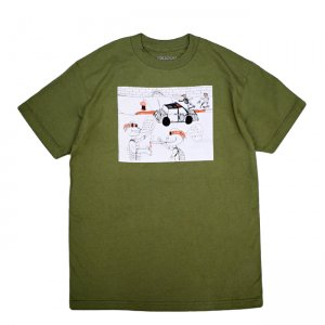<img class='new_mark_img1' src='//img.shop-pro.jp/img/new/icons5.gif' style='border:none;display:inline;margin:0px;padding:0px;width:auto;' />GX1000 FUCK PIZZA TEE / MILITARY GREEN (ジーエックスセン Tシャツ / 半袖)