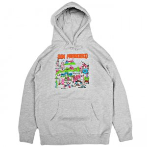 <img class='new_mark_img1' src='//img.shop-pro.jp/img/new/icons5.gif' style='border:none;display:inline;margin:0px;padding:0px;width:auto;' />GX1000 TOURIST HOODIE / HEATHER GREY (ジーエックスセン パーカー / スウェット)