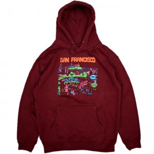 <img class='new_mark_img1' src='https://img.shop-pro.jp/img/new/icons5.gif' style='border:none;display:inline;margin:0px;padding:0px;width:auto;' />GX1000 TOURIST HOODIE / MAROON (ジーエックスセン パーカー / スウェット)