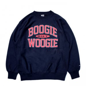 <img class='new_mark_img1' src='//img.shop-pro.jp/img/new/icons5.gif' style='border:none;display:inline;margin:0px;padding:0px;width:auto;' />SAYHELLO BOOGIE WOOGIE HEAVY CREW SWEAT / NAVY (セイハロー クルーネック/スウェット)