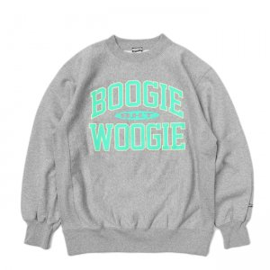 <img class='new_mark_img1' src='//img.shop-pro.jp/img/new/icons5.gif' style='border:none;display:inline;margin:0px;padding:0px;width:auto;' />SAYHELLO BOOGIE WOOGIE HEAVY CREW SWEAT / HEATHER GREY (セイハロー クルーネック/スウェット)