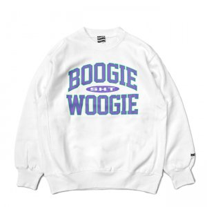 <img class='new_mark_img1' src='//img.shop-pro.jp/img/new/icons5.gif' style='border:none;display:inline;margin:0px;padding:0px;width:auto;' />SAYHELLO BOOGIE WOOGIE HEAVY CREW SWEAT / WHITE (セイハロー クルーネック/スウェット)
