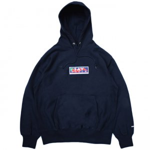 <img class='new_mark_img1' src='//img.shop-pro.jp/img/new/icons5.gif' style='border:none;display:inline;margin:0px;padding:0px;width:auto;' />SAYHELLO HOT EMBROIDERY HEAVY HOODIE / NAVY (セイハロー パーカー/スウェット)