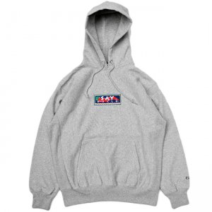 <img class='new_mark_img1' src='//img.shop-pro.jp/img/new/icons5.gif' style='border:none;display:inline;margin:0px;padding:0px;width:auto;' />SAYHELLO HOT EMBROIDERY HEAVY HOODIE / HEATHER GREY (セイハロー パーカー/スウェット)