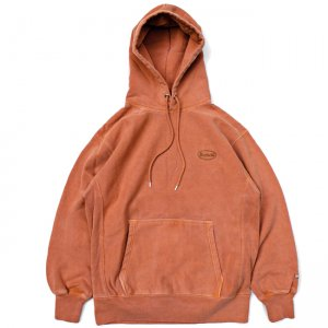 <img class='new_mark_img1' src='//img.shop-pro.jp/img/new/icons5.gif' style='border:none;display:inline;margin:0px;padding:0px;width:auto;' />SAYHELLO CASH LOGO EMBROIDERY HEAVY HOODIE / BROWN (セイハロー パーカー/スウェット)
