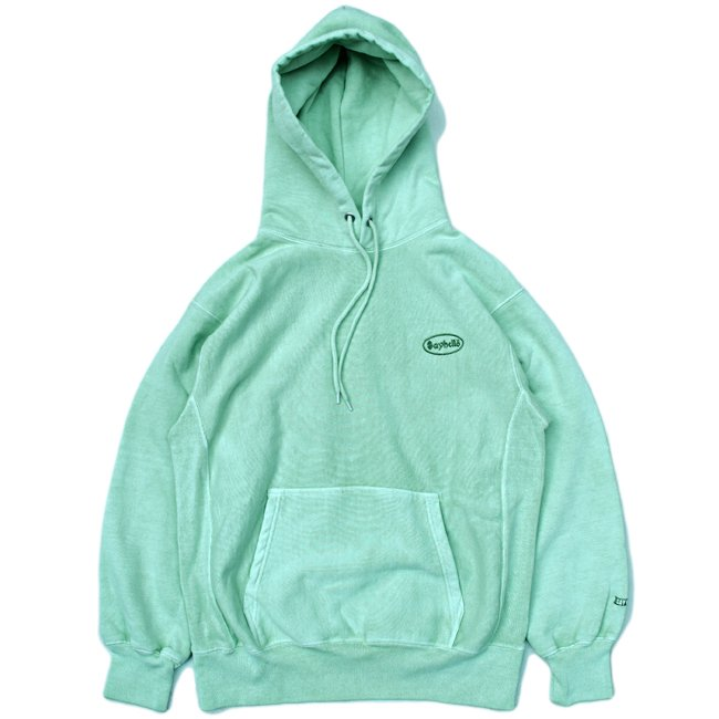 <img class='new_mark_img1' src='//img.shop-pro.jp/img/new/icons5.gif' style='border:none;display:inline;margin:0px;padding:0px;width:auto;' />SAYHELLO CASH LOGO EMBROIDERY HEAVY HOODIE / MINT (セイハロー パーカー/スウェット)