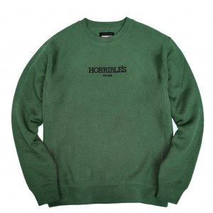 <img class='new_mark_img1' src='//img.shop-pro.jp/img/new/icons5.gif' style='border:none;display:inline;margin:0px;padding:0px;width:auto;' />HORRIBLE'S LOGO PREMIUM CREWNECK SWEAT / GREEN (ホリブルズ クルーネック スウェット)