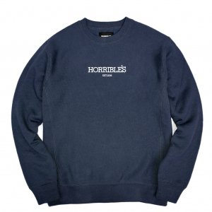 <img class='new_mark_img1' src='//img.shop-pro.jp/img/new/icons5.gif' style='border:none;display:inline;margin:0px;padding:0px;width:auto;' />HORRIBLE'S LOGO PREMIUM CREWNECK SWEAT / NAVY (ホリブルズ クルーネック スウェット)
