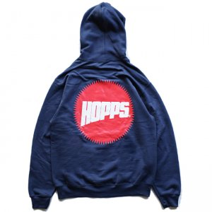 <img class='new_mark_img1' src='//img.shop-pro.jp/img/new/icons5.gif' style='border:none;display:inline;margin:0px;padding:0px;width:auto;' />HOPPS SUN LOGO HOODIE / NAVY (ホップス フーディー/パーカー)