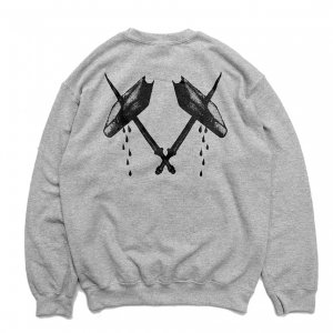 <img class='new_mark_img1' src='https://img.shop-pro.jp/img/new/icons5.gif' style='border:none;display:inline;margin:0px;padding:0px;width:auto;' />FEEVERBUG BLOOD CREWNECK SWEAT / HEATHER GREY (フィバーバグ クルーネック/スウェット)