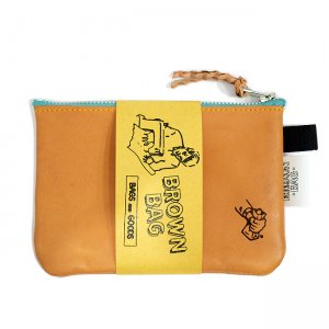 <img class='new_mark_img1' src='https://img.shop-pro.jp/img/new/icons5.gif' style='border:none;display:inline;margin:0px;padding:0px;width:auto;' />BROWNBAG Leather pouch / NATURAL × TURQUOISE (ブラウンバッグ レザーポーチ)