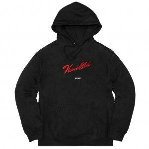 <img class='new_mark_img1' src='//img.shop-pro.jp/img/new/icons5.gif' style='border:none;display:inline;margin:0px;padding:0px;width:auto;' />HORRIBLE'S SIGNATURE PREMIUM HOODED SWEAT SHIRT / BLACK (ホリブルズ パーカー スウェット)