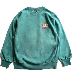 <img class='new_mark_img1' src='//img.shop-pro.jp/img/new/icons5.gif' style='border:none;display:inline;margin:0px;padding:0px;width:auto;' />SAYHELLO PACIFIC EMBROIDERY PIGMENT DYED HEAVY CREW SWEAT / DARK GREEN (セイハロー クルーネック/スウェット)