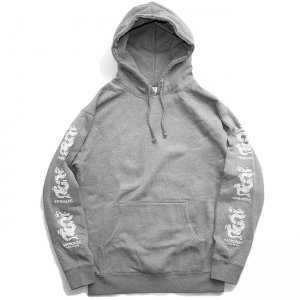 <img class='new_mark_img1' src='//img.shop-pro.jp/img/new/icons5.gif' style='border:none;display:inline;margin:0px;padding:0px;width:auto;' />5BORO JOIN OR DIE SNAKE PULLOVER HOODIE / HEATHER GREY (ファイブボロ/パーカー)