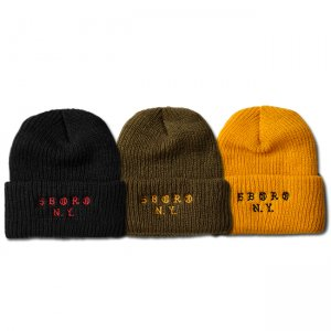 <img class='new_mark_img1' src='https://img.shop-pro.jp/img/new/icons5.gif' style='border:none;display:inline;margin:0px;padding:0px;width:auto;' />5BORO OLD NY BEANIE (ファイブボロ ビーニー/ニットキャップ)