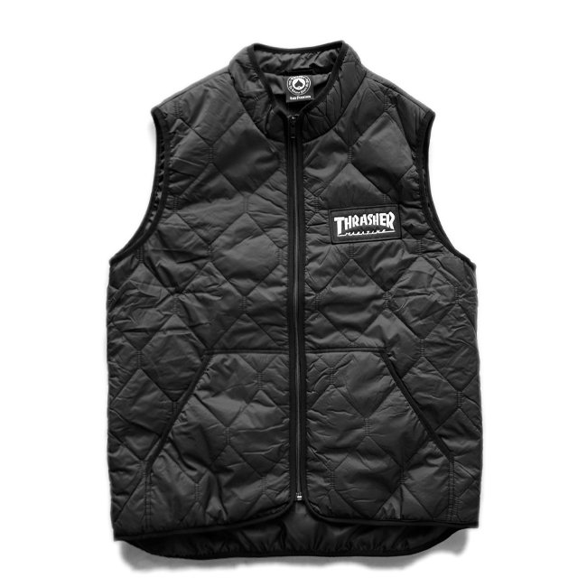 <img class='new_mark_img1' src='//img.shop-pro.jp/img/new/icons5.gif' style='border:none;display:inline;margin:0px;padding:0px;width:auto;' />THRASHER MAGAZINE LOGO VEST / BLACK (スラッシャー ベスト)
