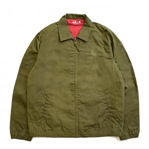 <img class='new_mark_img1' src='//img.shop-pro.jp/img/new/icons5.gif' style='border:none;display:inline;margin:0px;padding:0px;width:auto;' />HELLRAZOR OILED LOGO EMB SWING JACKET / OLIVE (ヘルレイザー スウィングジャケット)