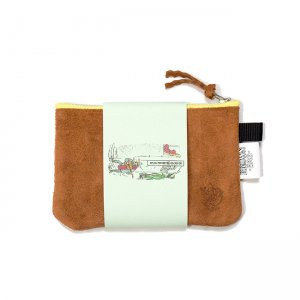 <img class='new_mark_img1' src='https://img.shop-pro.jp/img/new/icons5.gif' style='border:none;display:inline;margin:0px;padding:0px;width:auto;' />BROWNBAG Leather pouch / BROWN × YELLOW (ブラウンバッグ レザーポーチ)