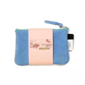 <img class='new_mark_img1' src='https://img.shop-pro.jp/img/new/icons5.gif' style='border:none;display:inline;margin:0px;padding:0px;width:auto;' />BROWNBAG Leather pouch / LIGHT BLUE × TURQUOISE (ブラウンバッグ レザーポーチ)
